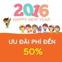 CHÚC MỪNG NĂM MỚI 2016 VỚI GÓI ƯU ĐÃI PHÍ 50% TỪ ICK